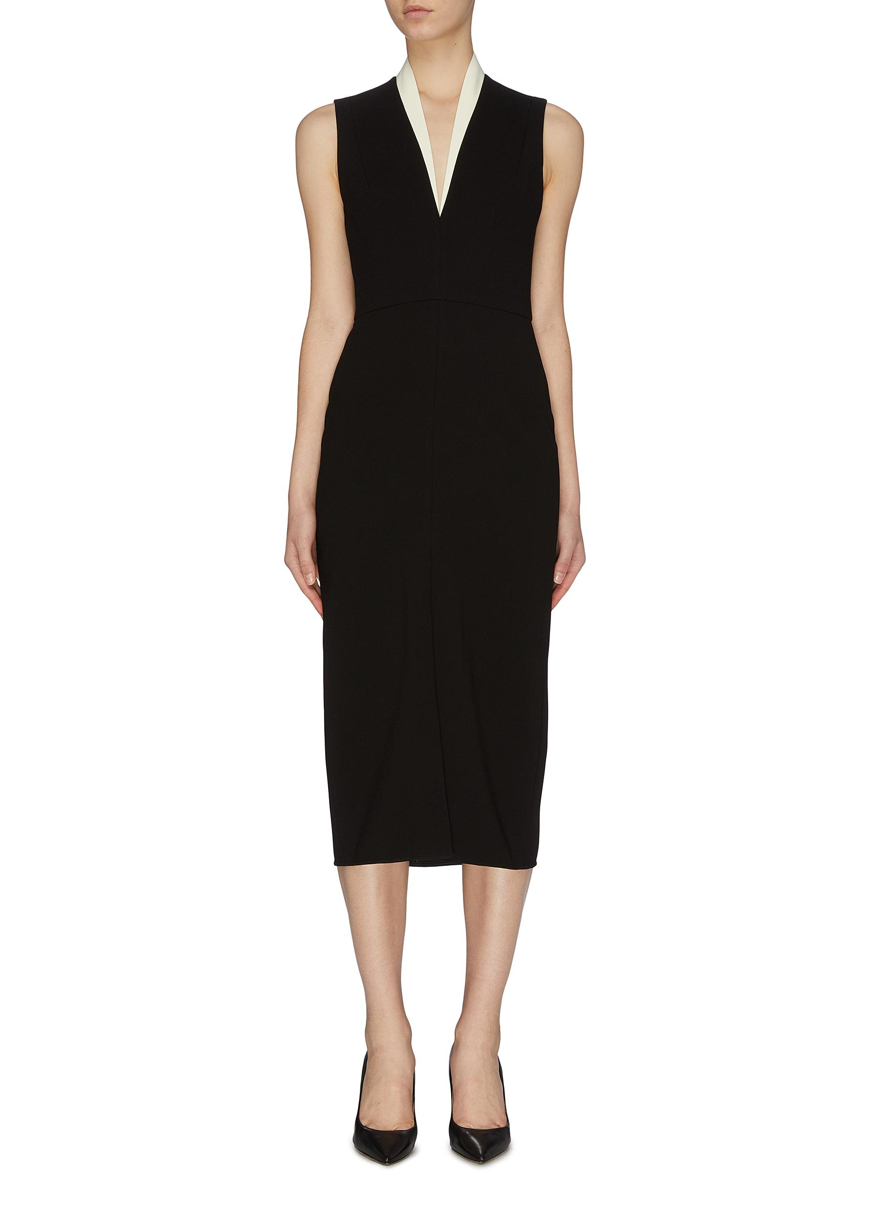 Buy Victoria Beckham Dresses V neck drape sleeveless dress