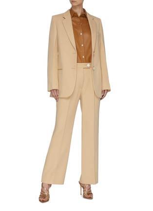 Figure View - Click To Enlarge - VICTORIA BECKHAM - Crop Suiting Pants