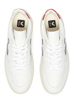 Detail View - Click To Enlarge - VEJA - 'V-10' perforated leather sneakers