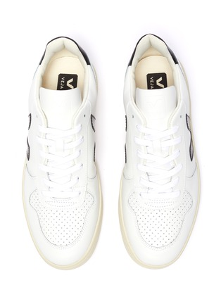 Detail View - Click To Enlarge - VEJA - V-10' perforated leather sneakers