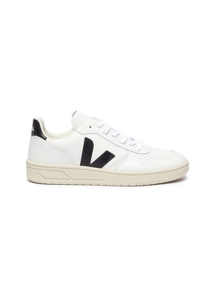 Main View - Click To Enlarge - VEJA - V-10' perforated leather sneakers
