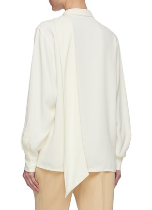 Back View - Click To Enlarge - VICTORIA BECKHAM - Scarf neck blouse