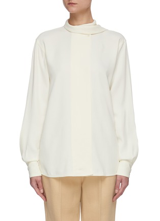 Main View - Click To Enlarge - VICTORIA BECKHAM - Scarf neck blouse