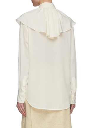 Back View - Click To Enlarge - VICTORIA BECKHAM - Ruffle neck silk blouse