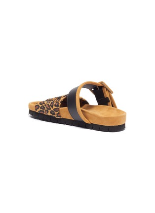 - PIERRE HARDY - 'Alpha Mare' leopard print moulded footbed sandals