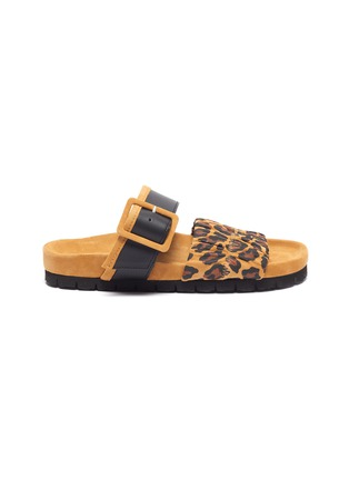 Main View - Click To Enlarge - PIERRE HARDY - 'Alpha Mare' leopard print moulded footbed sandals