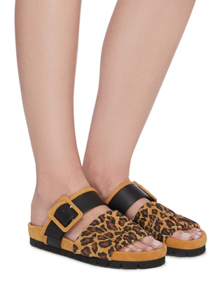 Figure View - Click To Enlarge - PIERRE HARDY - 'Alpha Mare' leopard print moulded footbed sandals