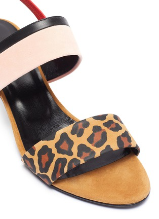 Detail View - Click To Enlarge - PIERRE HARDY - 'Alpha Party' leopard print suede leather sandals