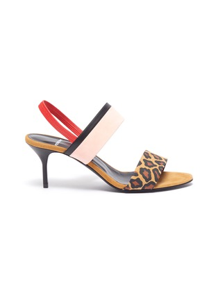 Main View - Click To Enlarge - PIERRE HARDY - 'Alpha Party' leopard print suede leather sandals