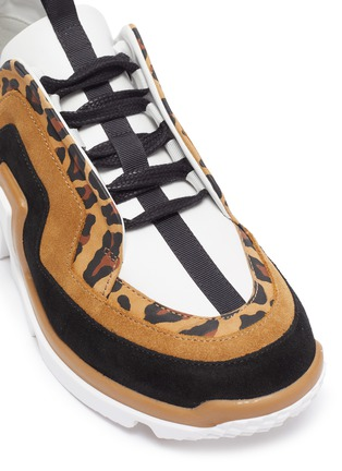 Detail View - Click To Enlarge - PIERRE HARDY - 'Vibe' leopard trim sneakers