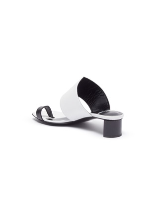 - PIERRE HARDY - 'V Linea' contrast toe ring leather sandals