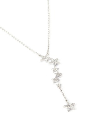 Detail View - Click To Enlarge - CZ BY KENNETH JAY LANE - Cubic Zirconia Pavé Star Necklace