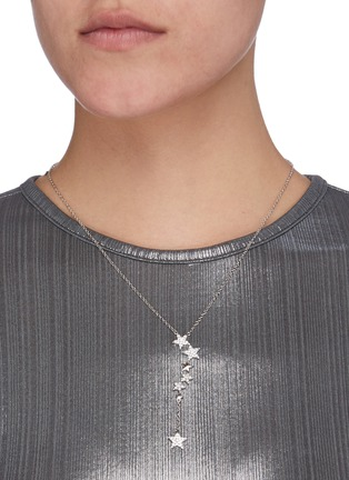 Figure View - Click To Enlarge - CZ BY KENNETH JAY LANE - Cubic Zirconia Pavé Star Necklace