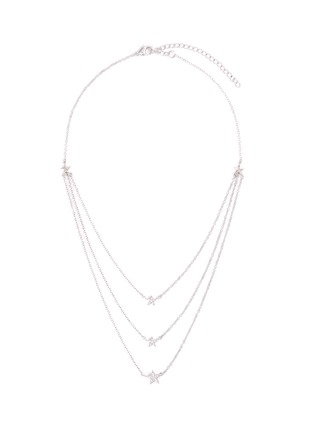 Main View - Click To Enlarge - CZ BY KENNETH JAY LANE - Three Layer Star Pavé Necklace