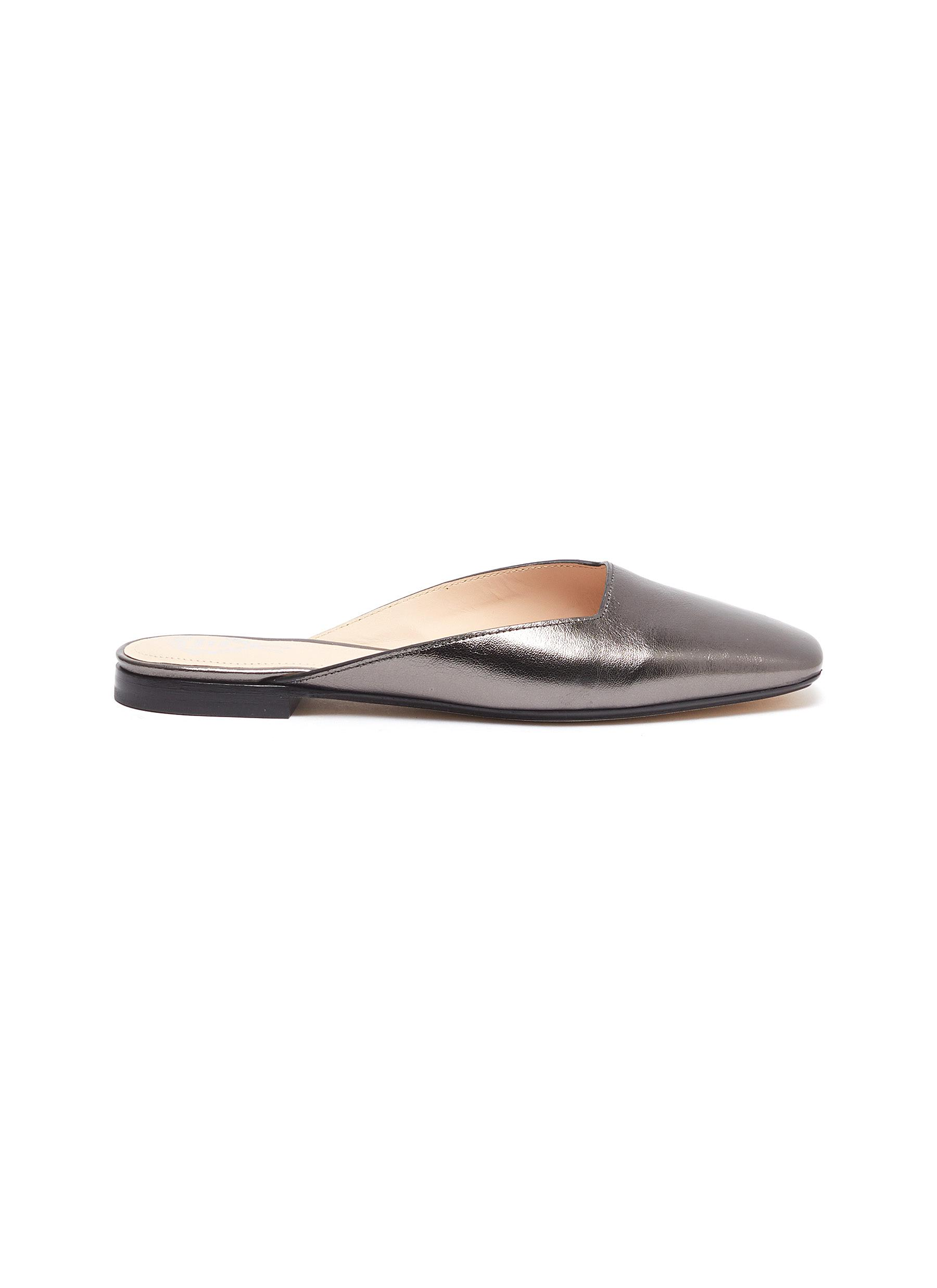 Rodo Flats Metallic leather mules