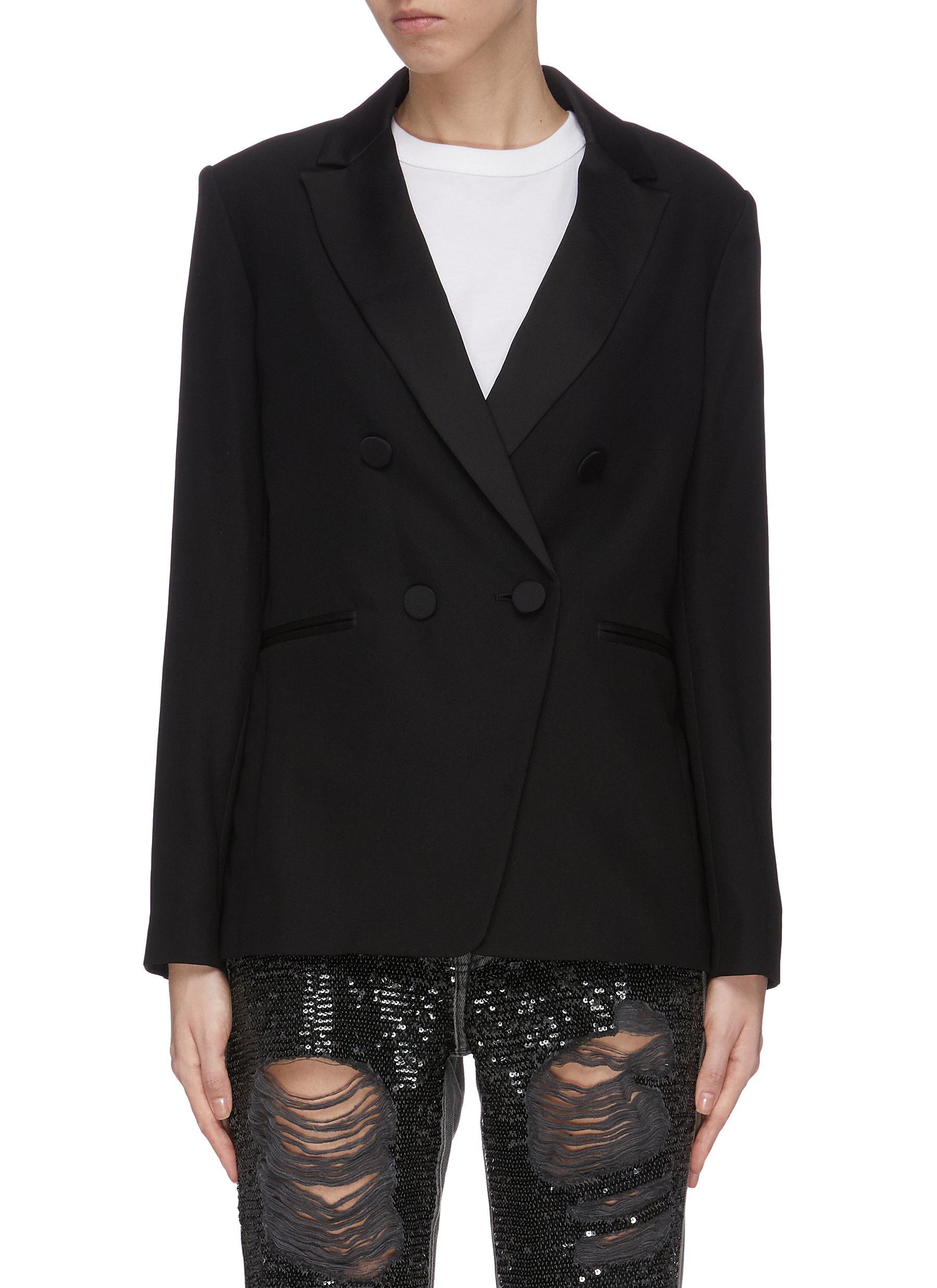 shop Frame Denim Tux satin blazer online