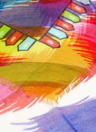 Detail View - Click To Enlarge - FRANCO FERRARI - 'Danao' abstract print scarf