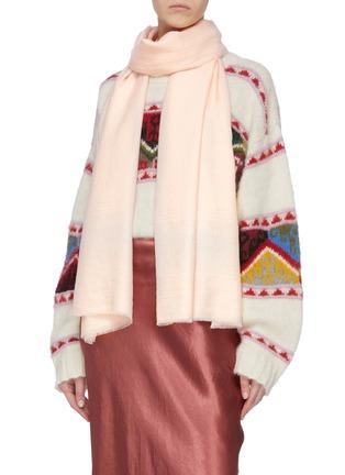 Figure View - Click To Enlarge - JANAVI - Shimmer stripe merino wool scarf