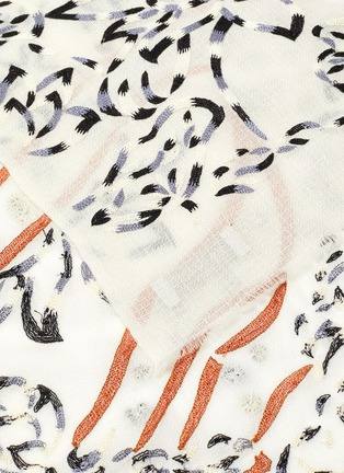 Detail View - Click To Enlarge - JANAVI - Sequin embellished cheetah print scarf