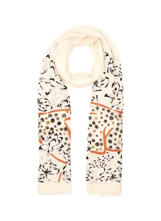 Main View - Click To Enlarge - JANAVI - Sequin embellished cheetah print scarf