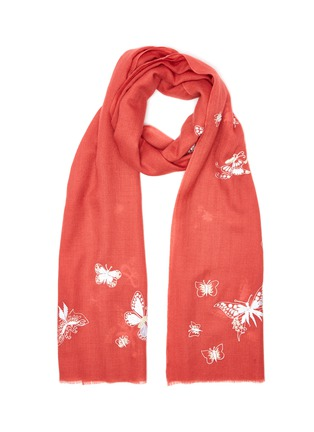 Main View - Click To Enlarge - JANAVI - Butterfly print cashmere scarf