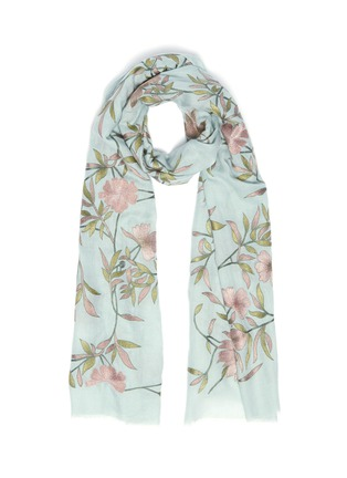 Main View - Click To Enlarge - JANAVI - 'Jaal' floral embroidered cashmere scarf