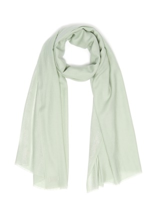 Main View - Click To Enlarge - JANAVI - 'Dobby' stripe woven merino wool scarf