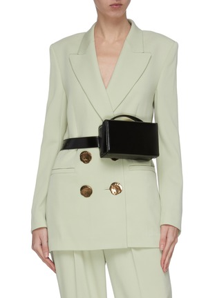 Figure View - Click To Enlarge - MARK CROSS - 'Grace' leather box belt bag