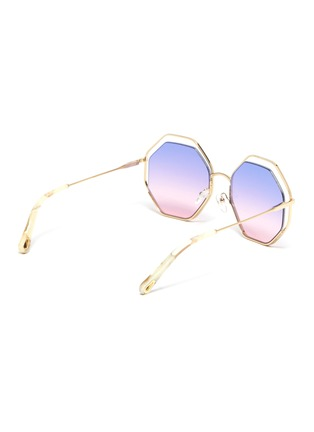 Figure View - Click To Enlarge - CHLOÉ - 'Poppy' octagon cutout metal frame sunglasses