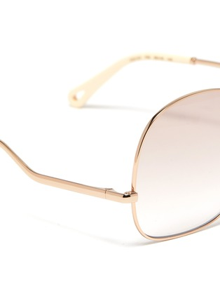 Detail View - Click To Enlarge - CHLOÉ - D frame curled temple sunglasses