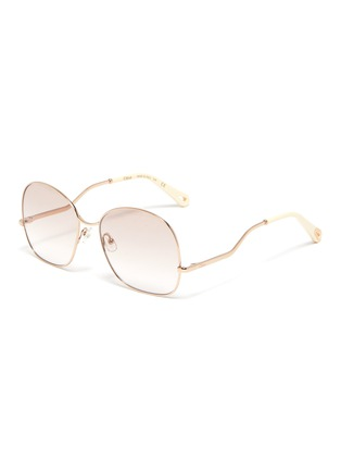 Main View - Click To Enlarge - CHLOÉ - D frame curled temple sunglasses
