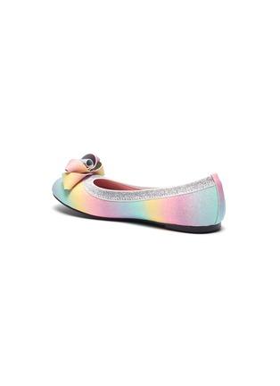 Detail View - Click To Enlarge - WINK - 'Soda Pop' ribbon glittered kids ballerina flats