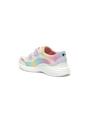 Detail View - Click To Enlarge - WINK - 'Lollipop' elastic lace glittered kids sneakers