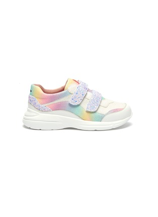 Main View - Click To Enlarge - WINK - 'Lollipop' elastic lace glittered kids sneakers