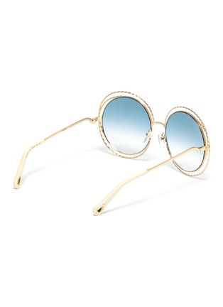 Figure View - Click To Enlarge - CHLOÉ - 'Carlina' twisted round metal frame sunglasses