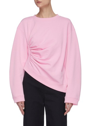 Main View - Click To Enlarge - SHORT SENTENCE - Side ruched sweatshirt
