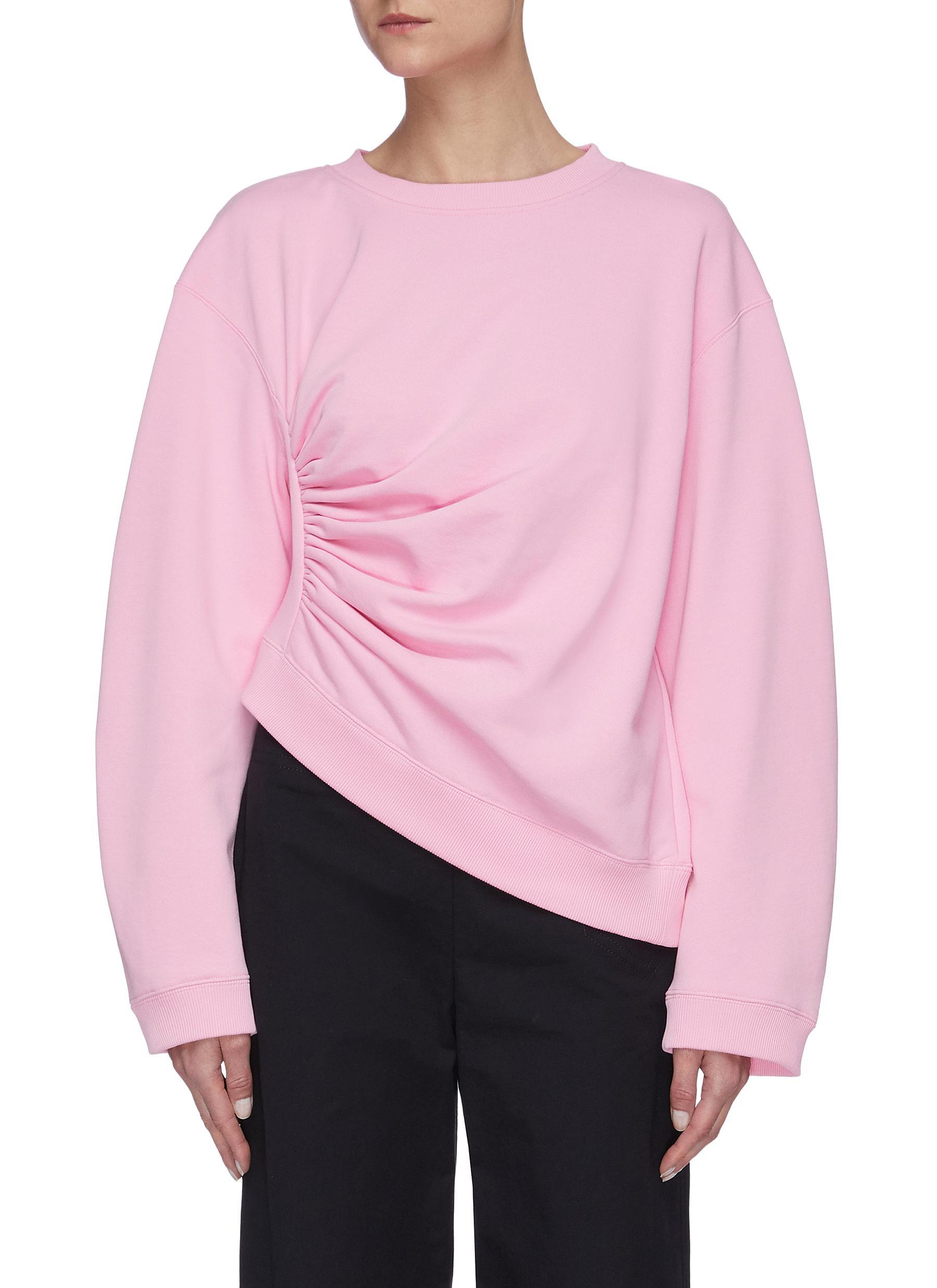 shop Short Sentence Side ruched sweatshirt online