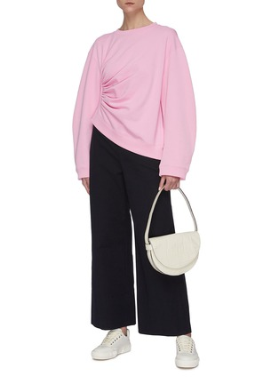 Figure View - Click To Enlarge - SHORT SENTENCE - Side ruched sweatshirt