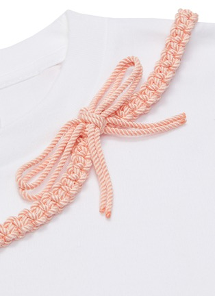 - SHUSHU/TONG - Braid Bow T-shirt