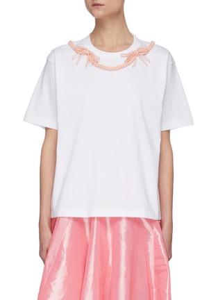 Main View - Click To Enlarge - SHUSHU/TONG - Braid Bow T-shirt