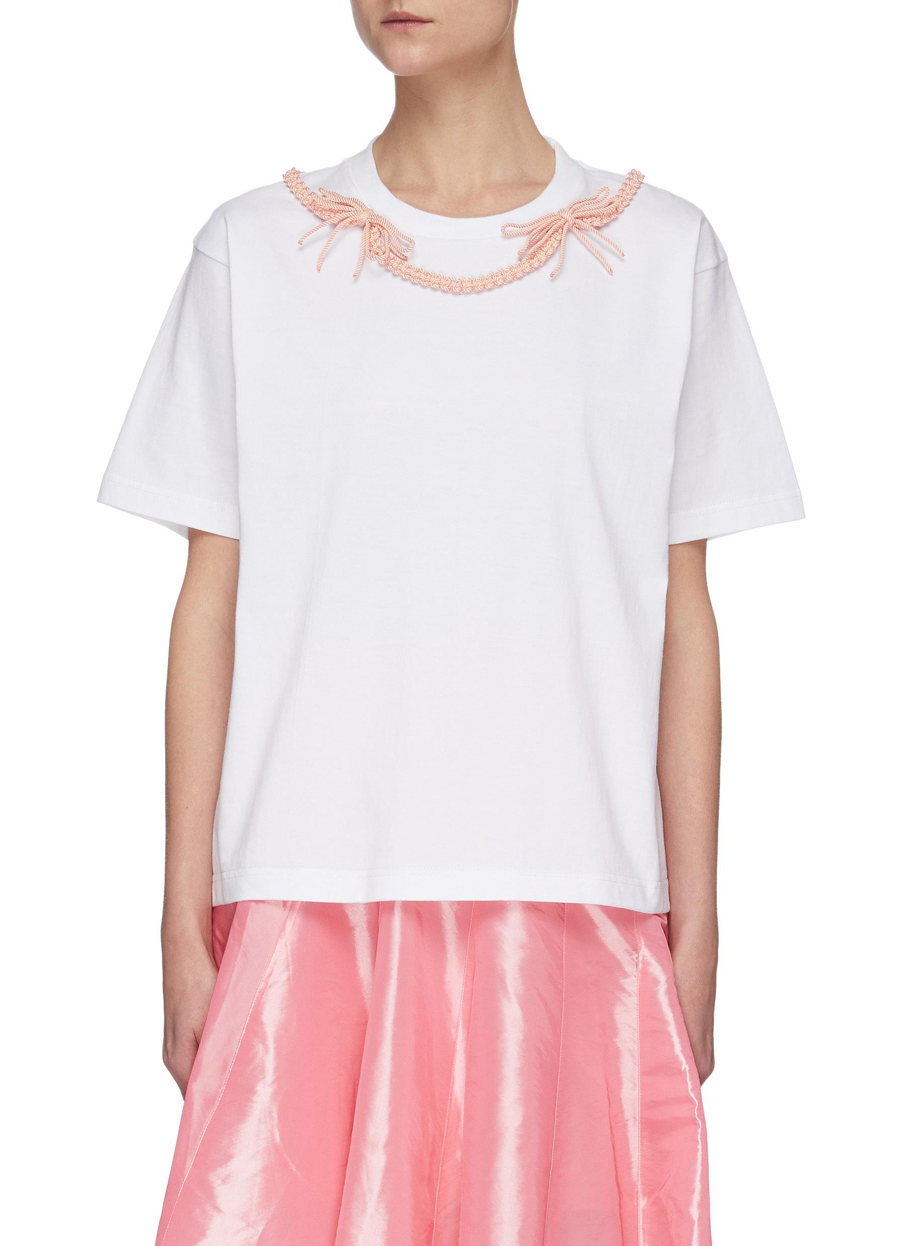 shop Shushu/Tong Braid Bow T-shirt online