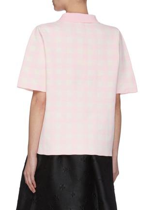 Back View - Click To Enlarge - SHUSHU/TONG - Gingham Check Polo Shirt