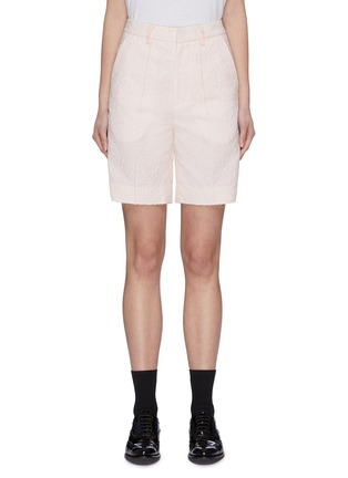 Main View - Click To Enlarge - SHUSHU/TONG - Raw Edge Hammered Shorts