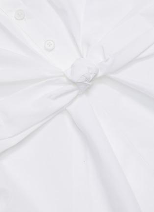 - SHUSHU/TONG - Front Bow Button Back Shirt