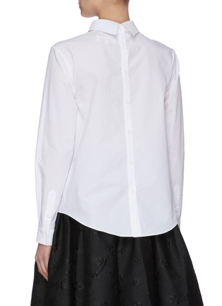 Back View - Click To Enlarge - SHUSHU/TONG - Front Bow Button Back Shirt