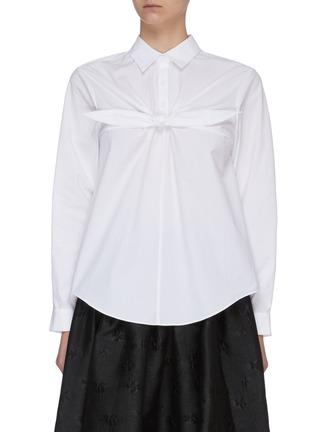 Main View - Click To Enlarge - SHUSHU/TONG - Front Bow Button Back Shirt
