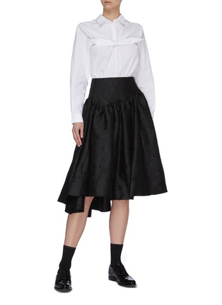 Figure View - Click To Enlarge - SHUSHU/TONG - Front Bow Button Back Shirt