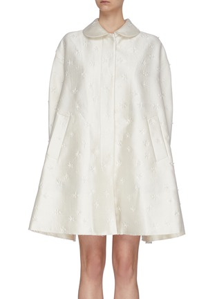 Main View - Click To Enlarge - SHUSHU/TONG - Floral Embroidered A-Line Coat
