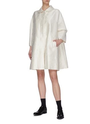 Figure View - Click To Enlarge - SHUSHU/TONG - Floral Embroidered A-Line Coat