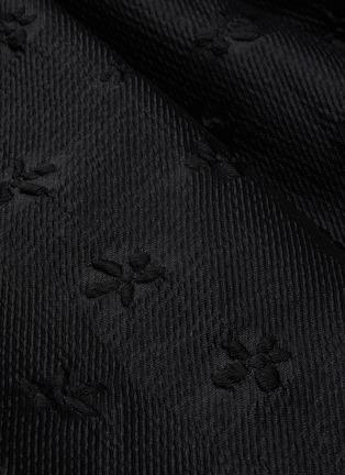 - SHUSHU/TONG - Asymmetric Flare Floral Embroidered Midi Skirt